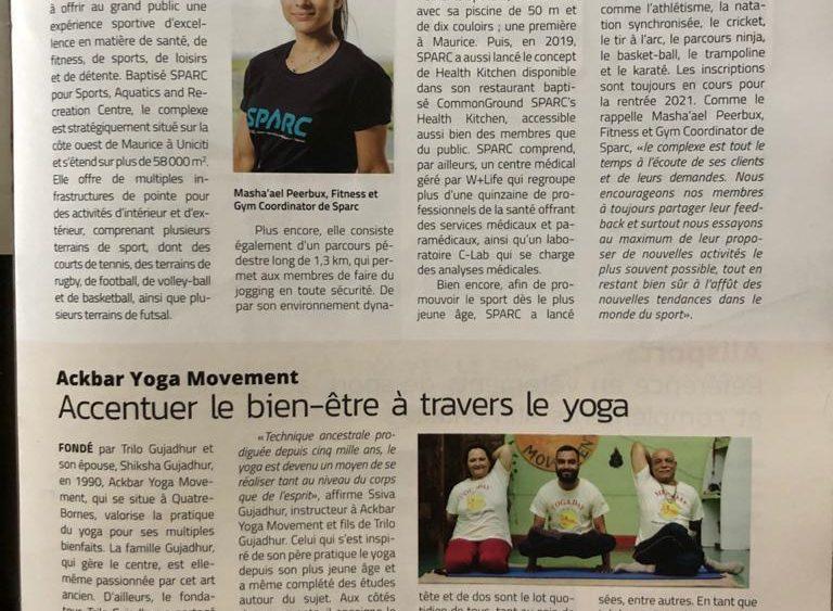 bien etre yoga Business magazine 6 January 2021